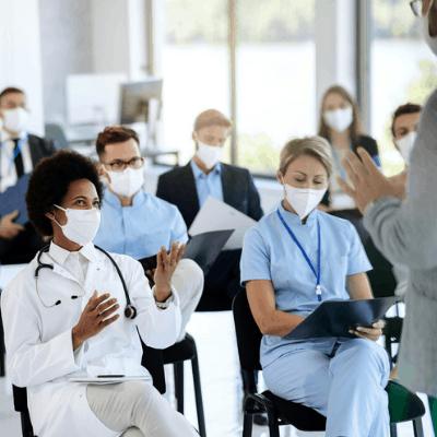 nurse and patient